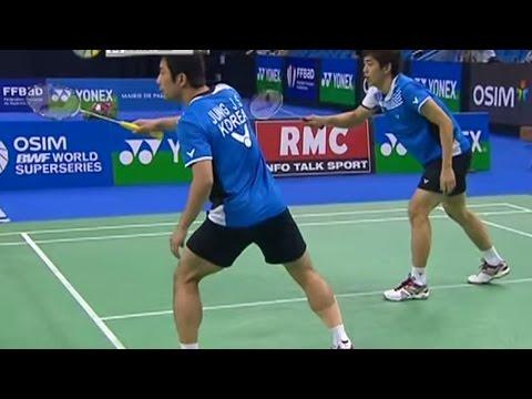 Jung JSungLYDae v C YunFu H MD-F Yonex Badminton French Open