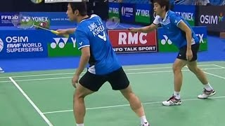 Finals - MD - Jung Jae Sung/Lee Yong Dae vs Cai Yun/Fu Haifeng - Yonex Badminton French Open 2011