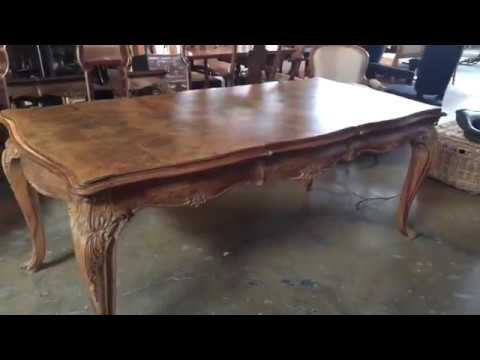 French Louis XV Period Circassian Walnut Burl Dining Table YouTube - Burled walnut dining table