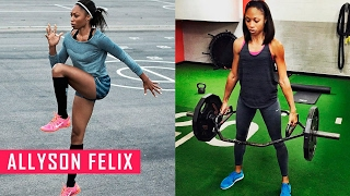 Allyson Felix Conditioning Training for Running | Fitness Babes