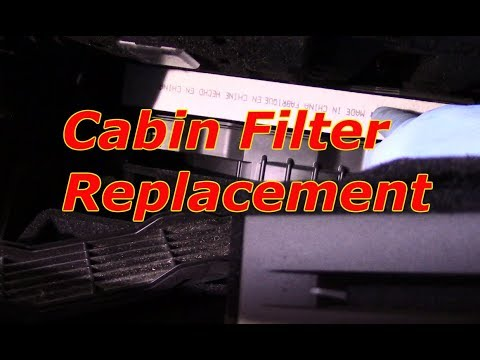 How to replace the cabin filter 2013 Cadillac ATS