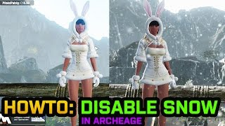 HOWTO: Disable Snow in Archeage in 60 Seconds
