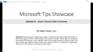 Convert Text to Columns | Excel | Microsoft 365 | Tip 51