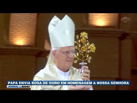 Papa Envia Rosa De Ouro Em Homenagem à Nossa Senhora