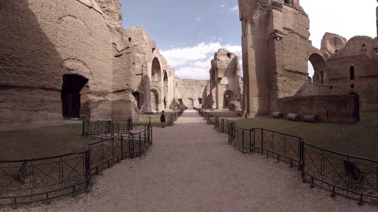 360 video baths of caracalla rome italy youtube. Black Bedroom Furniture Sets. Home Design Ideas