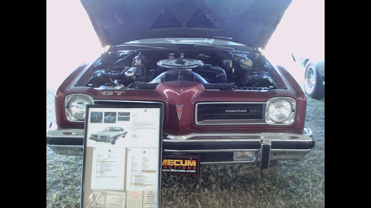 1974 Pontiac LeMans GT MaroonWht KissimmeeAuctionA012514  YouTube