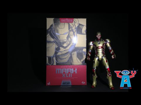2HOT TOYS 1//6 MARVEL IRON MAN 3 MMS197D02 DIECAST MK42 MARK XLII ACTION FIGURE