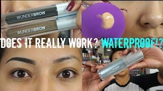 WUNDERBROW Eyebrow Gel + COVERPROOF Foundation + WUNDERBLEND Complexion Sponge REVIEW + DEMO