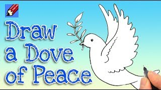 How to draw a Dove of Peace Real Easy