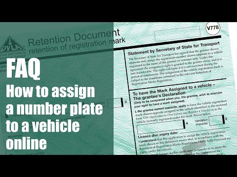 Assign A Number Plate To A Car - National Numbers
