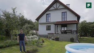 Дом как из Европейской глубинки  с цокольным этажом