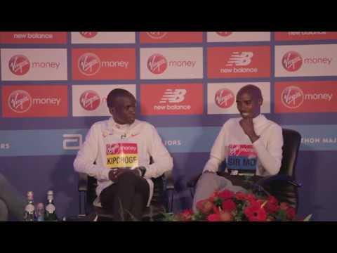 London Marathon 2019 - Mo Farah and Eliud Kipchoge Press Conference