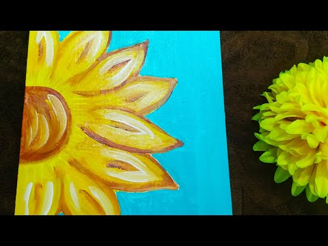 easy-sunflower-painting-for-kids-|-step-by-step-acrylic-painting-tutorial-|-basic-painting-for-kids