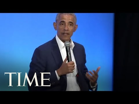 Barack Obama Manages To Work In Michelle Obama In A Discussion About 'Being A Man' | TIME