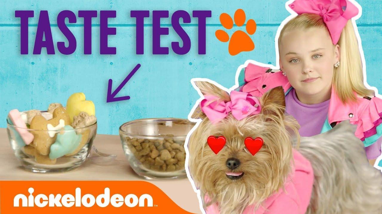 Jojo Siwa Treats Bowbow To Doggie Treat Taste Test Nick