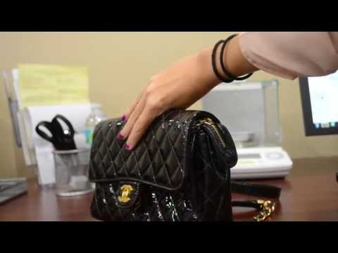 Authentic Chanel Black Patent Leather Quilted Backpack