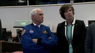 Vice President Pence Tours NASA's Historic Mission Control in Houston