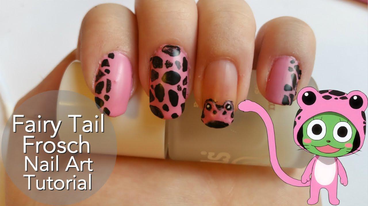 Fairy Tail Frosch Nail Art - YouTube