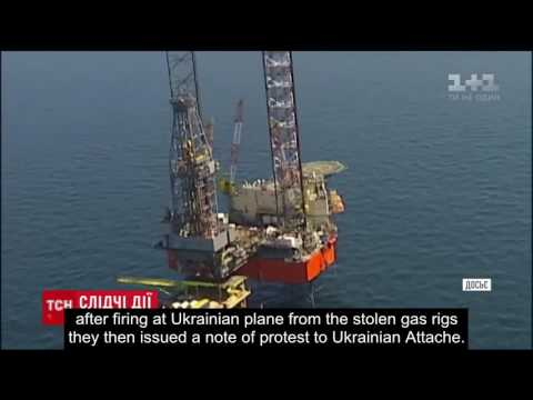 Ukrainian plane was shot at over Black Sea from gas rigs stolen by Russia.