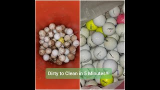 How to wash g๐lf balls quickly and easily