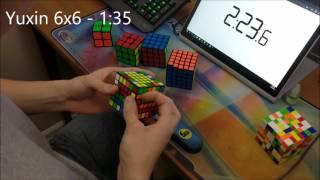 2x2 - 7x7 Rubik's Cube World Record - 5:38.44
