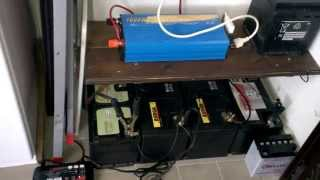 Impianto fotovoltaico  casa fai da te(Impianto fotovoltaico ad isola montato in verticale con pannello policristallino da 100 watt + regolatore di carica 10 amp mppt con batterie tradizionali auto ..., 2014-11-13T14:03:45.000Z)