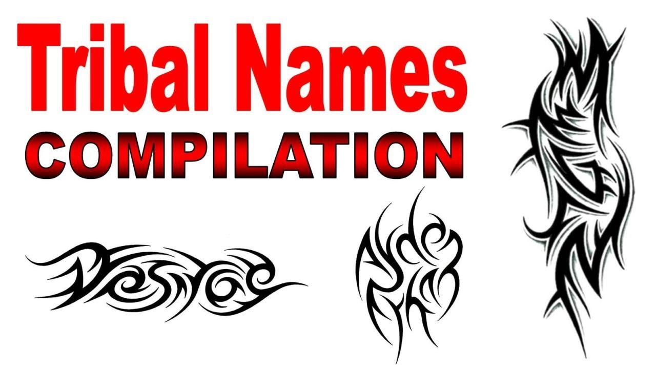 Tribal Names Tattoo Designs Compilation - by Jonathan Harris - YouTube