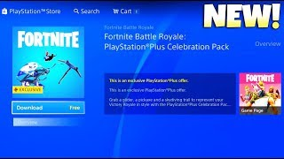 FREE! PLAYSTATION PLUS PACK 3! (How to Download) Fortnite Battle Royale