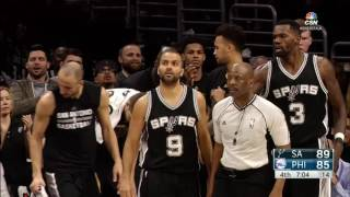 San Antonio Spurs at Philadelphia 76ers - Feb...