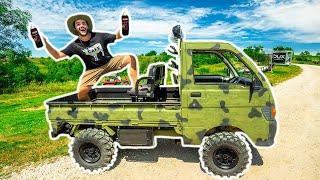 DIY SPRAY PAINTING My Mini Truck CAMO!!! (Bad Idea)