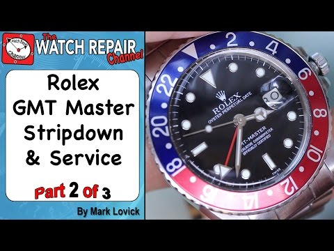 Part 2 of 3. Rolex 3075 GMT Master full strip down service -