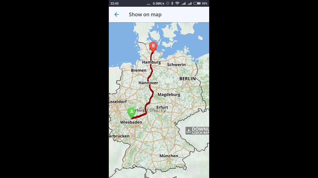 german autobahn a5a7
