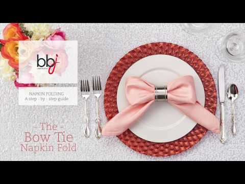 Step-by-Step Bow Tie Linen Napkin Folding Guide