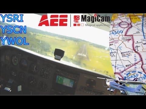 Cessna Landing at Camden and Wollongong Full Flight