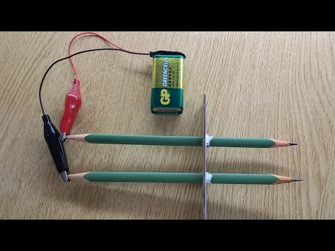 Electrolysis of water experiment using pencils, h2o electrolysis, electrolysis water