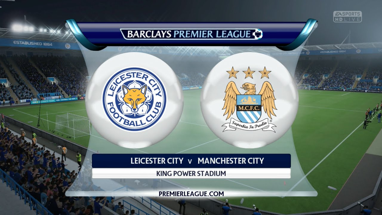 Image result for Leicester City vs Manchester City English Premier League