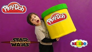 ГИГАНТСКИЙ ПЛЕЙ ДО С СЮРПРИЗОМ GIANT Play Doh SURPRISE Star Wars Unpacking