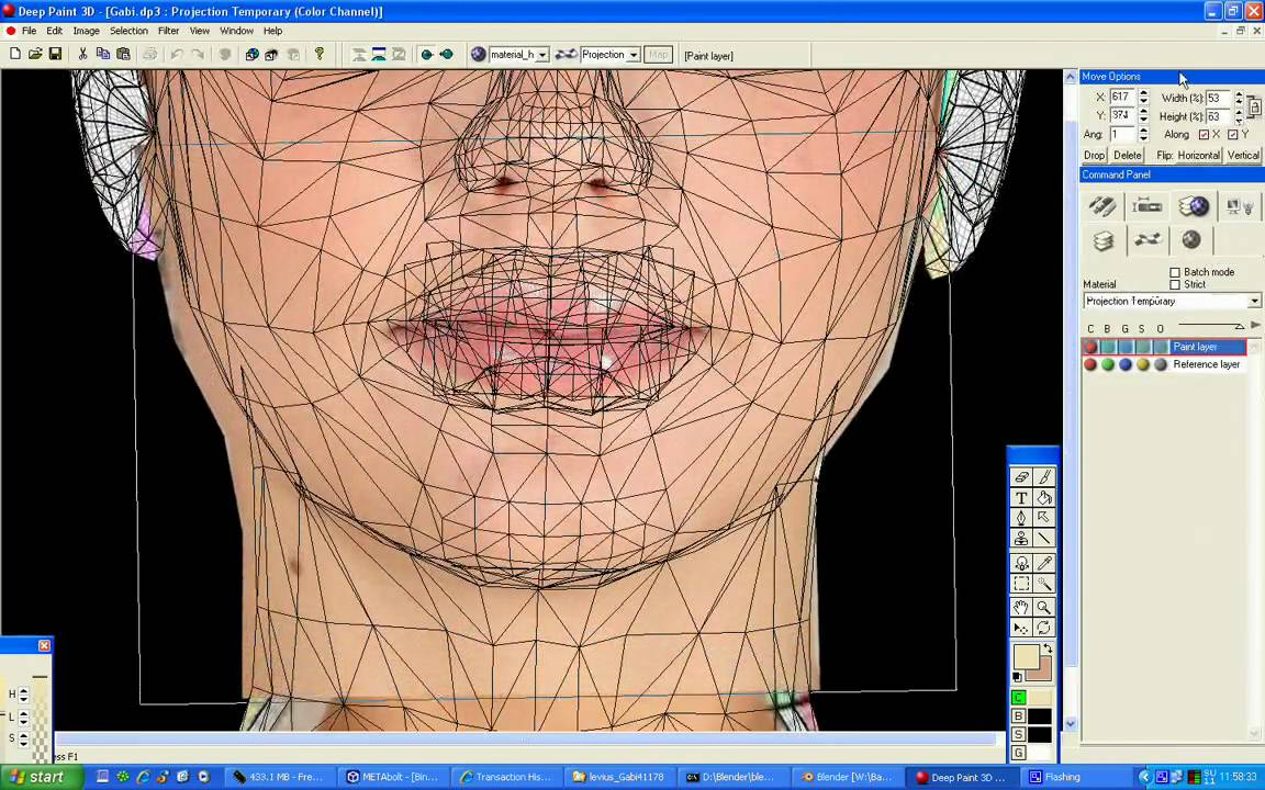 Texturing the face of a SecondLife avatar using DeepPaint3D