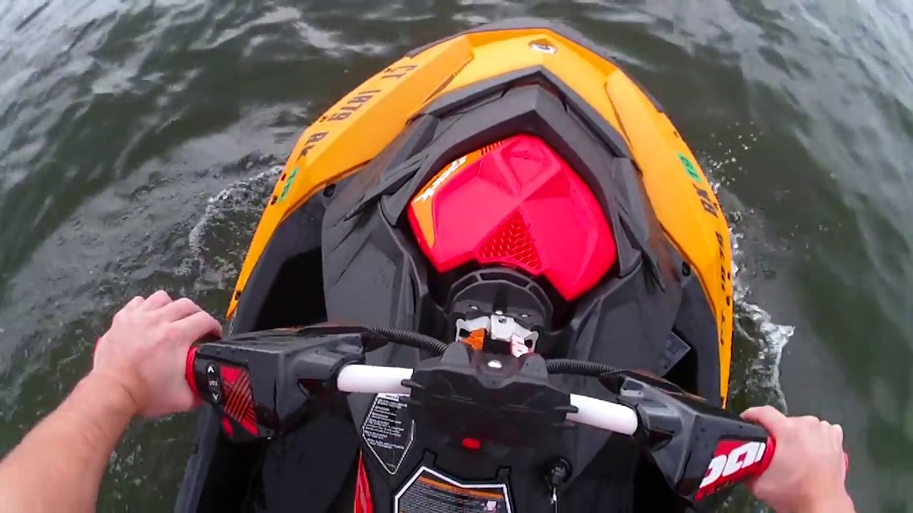 Stock 2018 Sea Doo Spark Trixx POV! Top Speed, Wavies, 180s and more