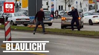 Geisterfahrer flieht vor der Polizei - Trotz vorgehaltener Waffe