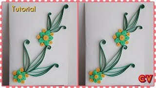 How to Make Quilling Design for Cards / Tutorial 1/ Beginners