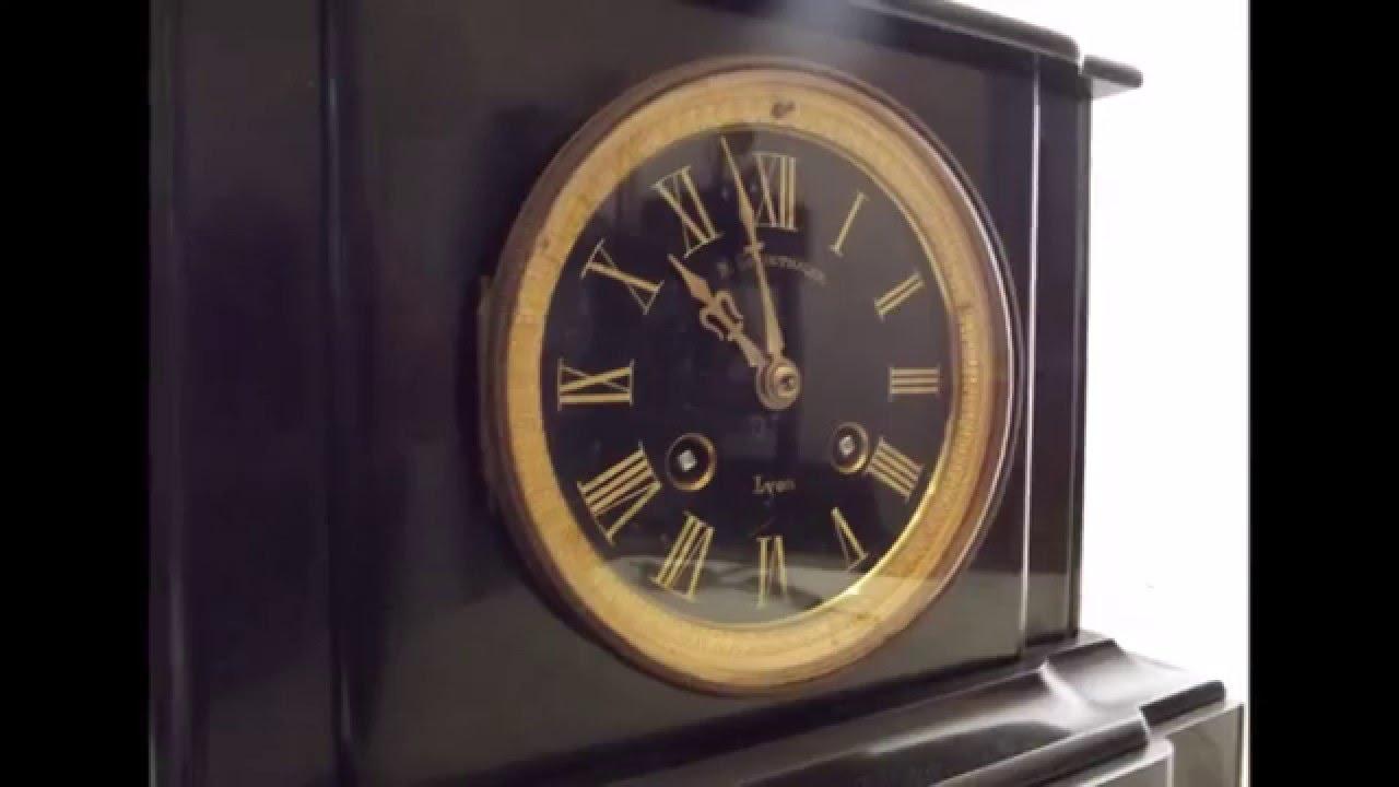 pendule marbre noir poque napol on iii mouvement de paris m canisme d 39 horloger youtube. Black Bedroom Furniture Sets. Home Design Ideas