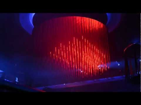 3D LED chandelier controlled by Madrix at Club Hollywood Tallinn, Estonia