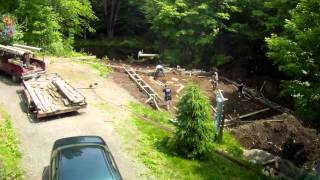 Build Concrete Footings Foundation - 5 - My Garage Build Hd Time Lapse