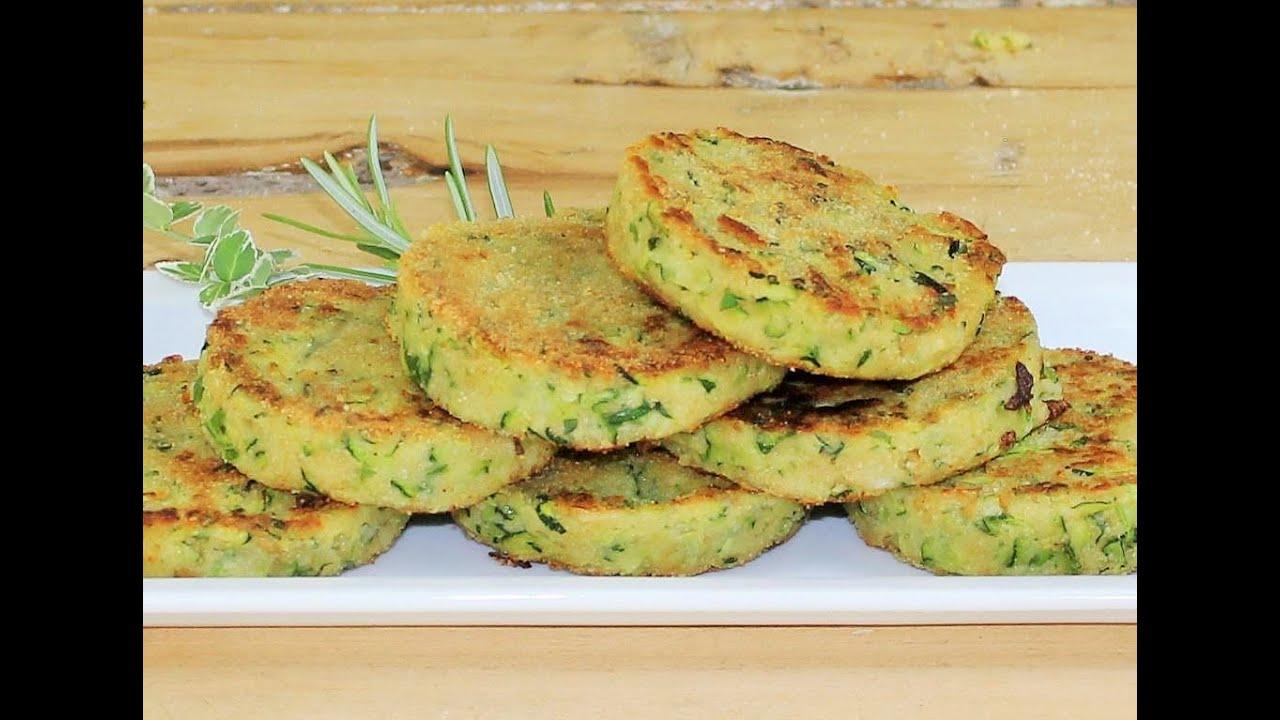 BURGER DI ZUCCHINE DORATE SENZA FRIGGERE SENZA FORNO ricetta zucchine senza forno zucchini recipe