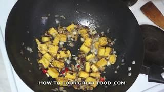 Asian Stir Fried Tofu & Mushroom Recipe Wok