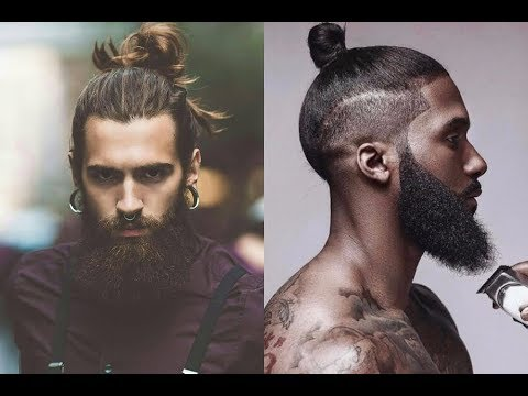 Men S Bun Hairstyle With Beard 2018 Top Knot Youtube