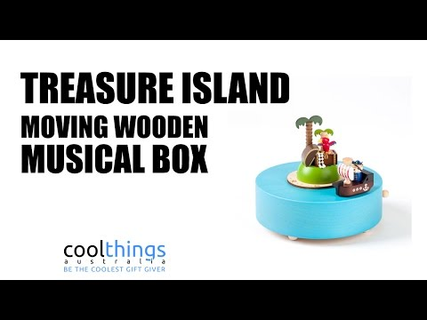 Treasure Island Wooden Musical Box
