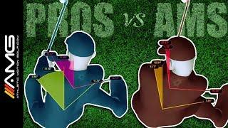 golf swing rotation pros vs ams