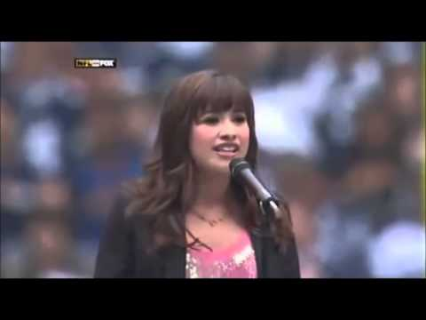 Demi Lovato:  Performance Natial Anthem The Cowboys Vs Seahawks Game 2008